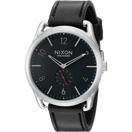 Nixon Men's A465-008 C45 Leather Black Leather Watch