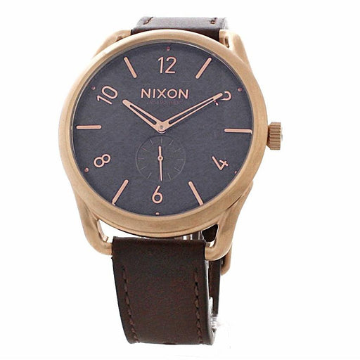 Nixon Men's A465-1890 C45 Leather Brown Leather Watch