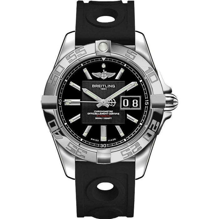 Breitling Men's A49350L2-BA07-225S Galactic 41 Black Rubber Watch
