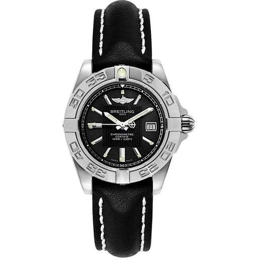 Breitling Women's A71356L2-BA10-780P Black Leather Watch