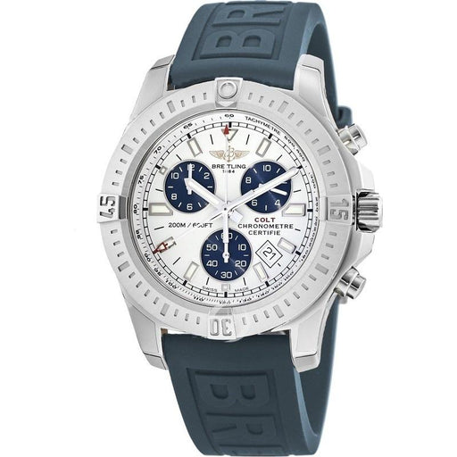 Breitling Men's A7338811-G790-158S Colt Chronograph Blue Rubber Watch