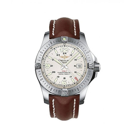 Breitling Men's A7438811-G792-437X Colt  Brown Leather Watch