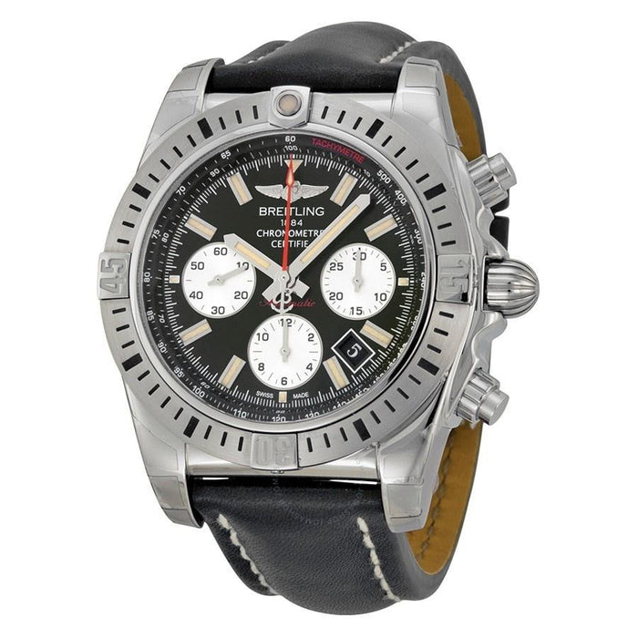 Breitling Men's AB01154G-BD13LS Chronomat 44 Airborn Chronograph Automatic Black Leather Watch