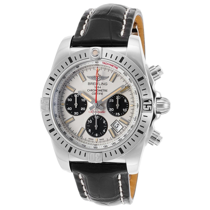 Breitling Men's AB01154G-G786LS Chronomat 44 Airborn Chronograph Automatic Black Leather Watch