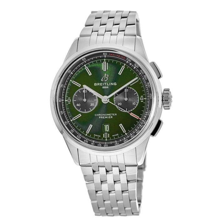 Breitling Men's AB0118A1-L537-452A Premier B01 Chronograph Stainless Steel Watch