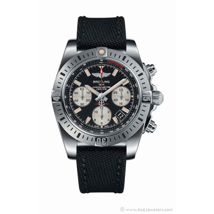 Breitling Men's AB01442J-BD26MS Chronomat 41 Airborne Chronograph Automatic Black Canvas Watch