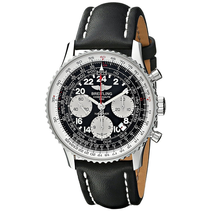 Breitling Men's AB021012-BB59LS Navimeter Chronograph Automatic Black Leather Watch