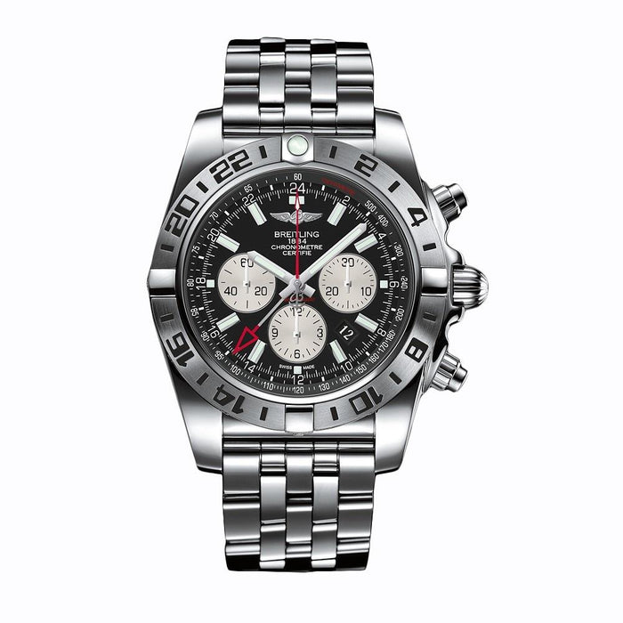 Breitling Men's AB0413B9-BD17 Chronomat GMT Chronograph Automatic Stainless Steel Watch