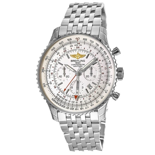 Breitling Men's AB044121-G783-453A Navitimer GMT Chronograph Stainless Steel Watch