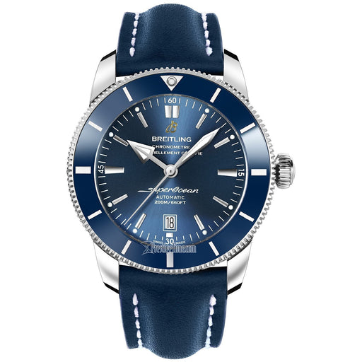 Breitling Men's AB202016-C961-101X Superocean Heritage II Automatic Blue Leather Watch