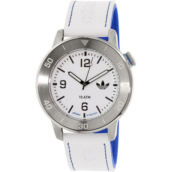 Adidas Men's ADH3010 Manchester White Leather Watch