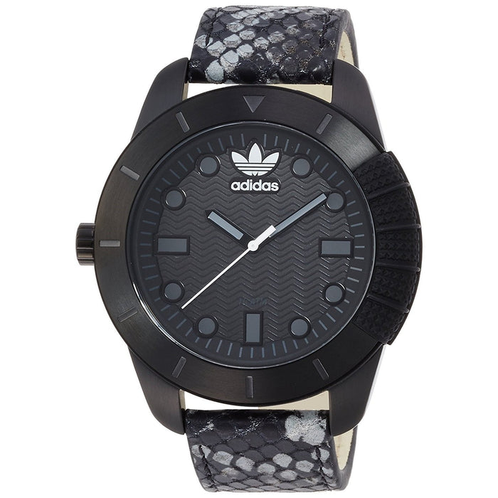 Adidas Men's ADH3043 Manchester Black Leather Watch