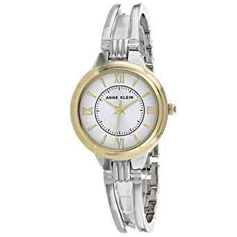 Anne Klein Women's AK-2735SVTT Classic Stainless Steel Watch