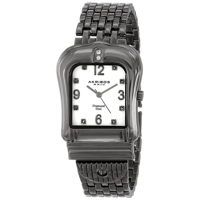 Akribos Women's AK528BK XXIV Crystal Black Stainless Steel Watch