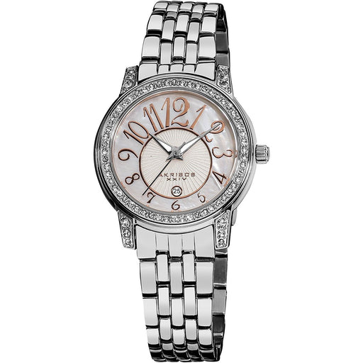 Akribos Women's AK586SS XXIV Crystal Stainless Steel Watch