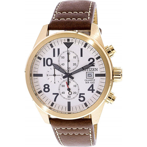 Citizen Men's AN3623-02A Citizen Quartz Chronograph Brown Leather Watch