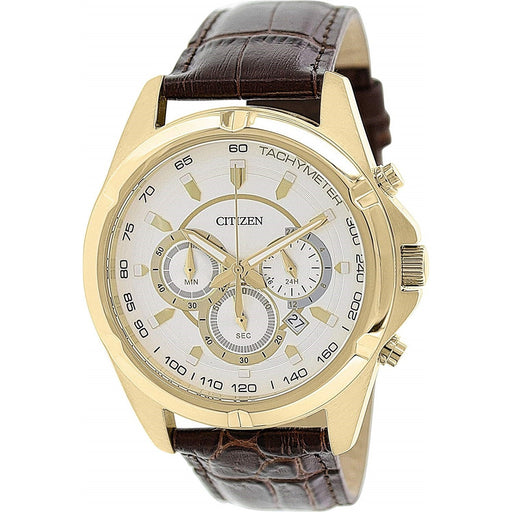 Citizen Men's AN8043-05A Chronograph Chronograph Brown Leather Watch