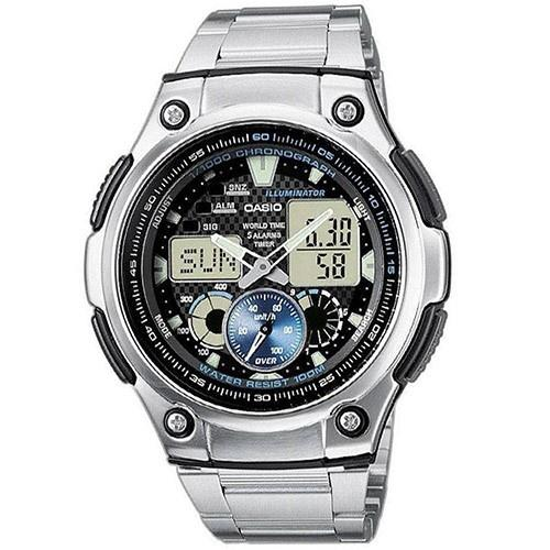 Casio Men's AQ-190WD-1AV Ana-Digi Analog-Digital Stainless Steel Watch