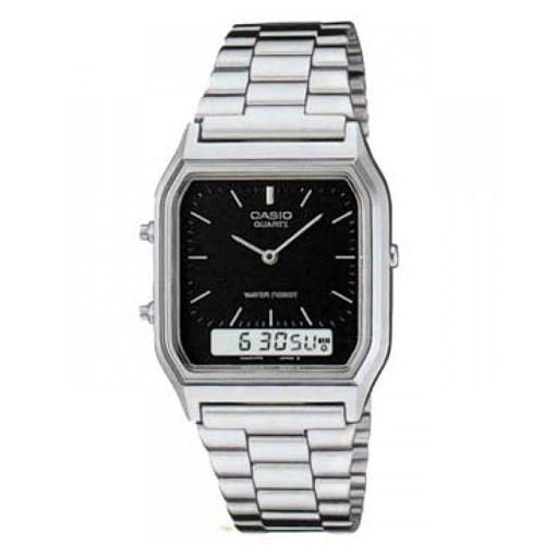 Casio Men's AQ-230A-1D Classic Analog-Digital Stainless Steel Watch