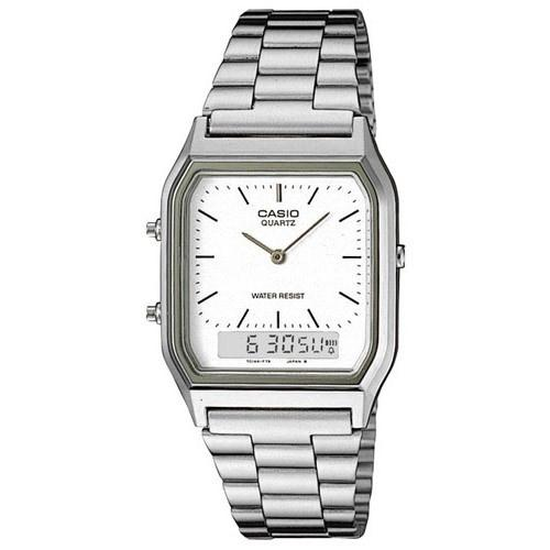 Casio Men's AQ-230A-7D Classic Analog-Digital Stainless Steel Watch