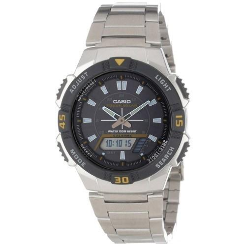 Casio Men's AQS-800WD-1EV Ana-digi Analog-Digital Stainless Steel Watch