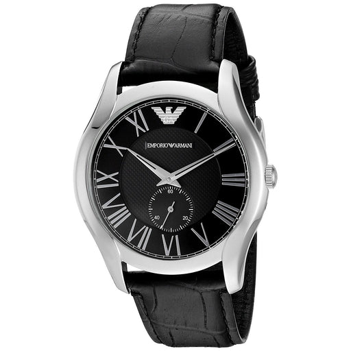 Emporio Armani Men's AR1703 Classic Black Leather Watch