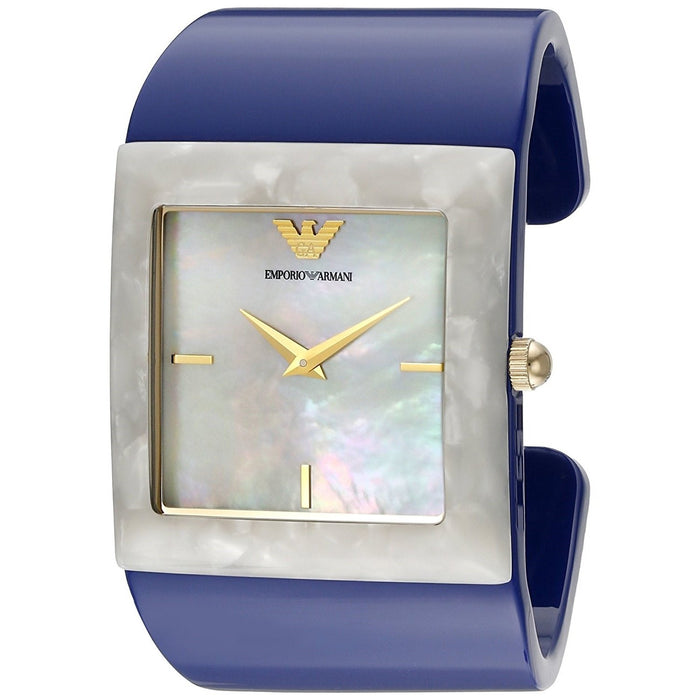 Emporio Armani Women's AR7396 Donna Catwalk Blue Plastic Watch