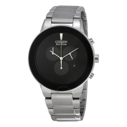 Citizen Men's AT2240-51E Axiom Chronograph,Solar Stainless Steel Watch