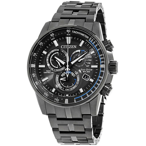 Citizen Men's AT4127-52H PCAT Chronograph Grey Stainless Steel Watch