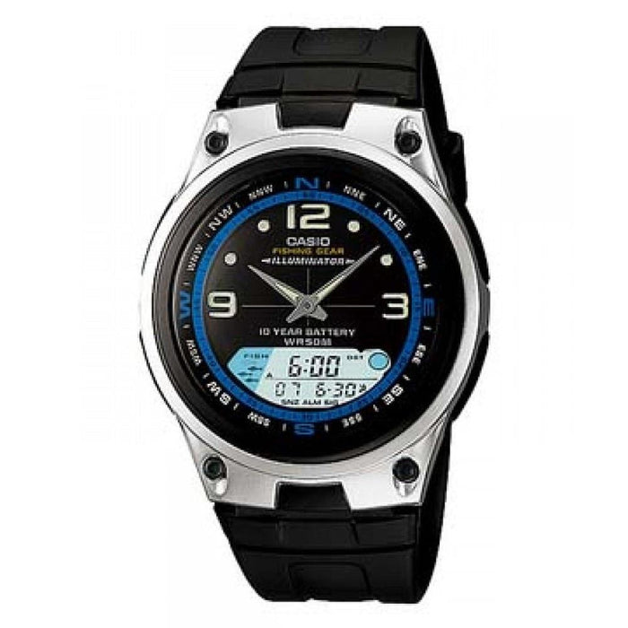 Casio Men's AW-82-7AV Ana-Digi Analog-Digital Black Rubber Watch