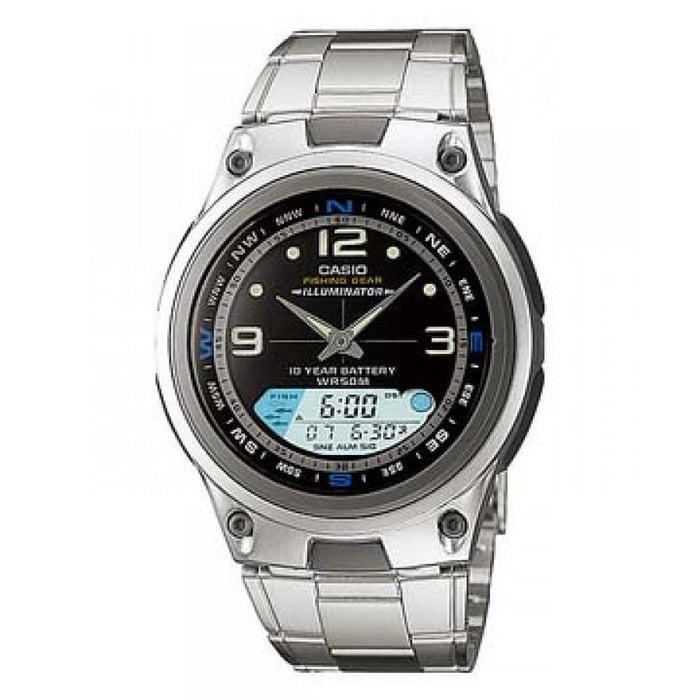 Casio Men's AW-82D-1AV Ana-Digi Stainless Steel Watch
