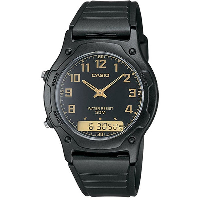 Casio Men's AW49H-1B Classic Black Resin Watch