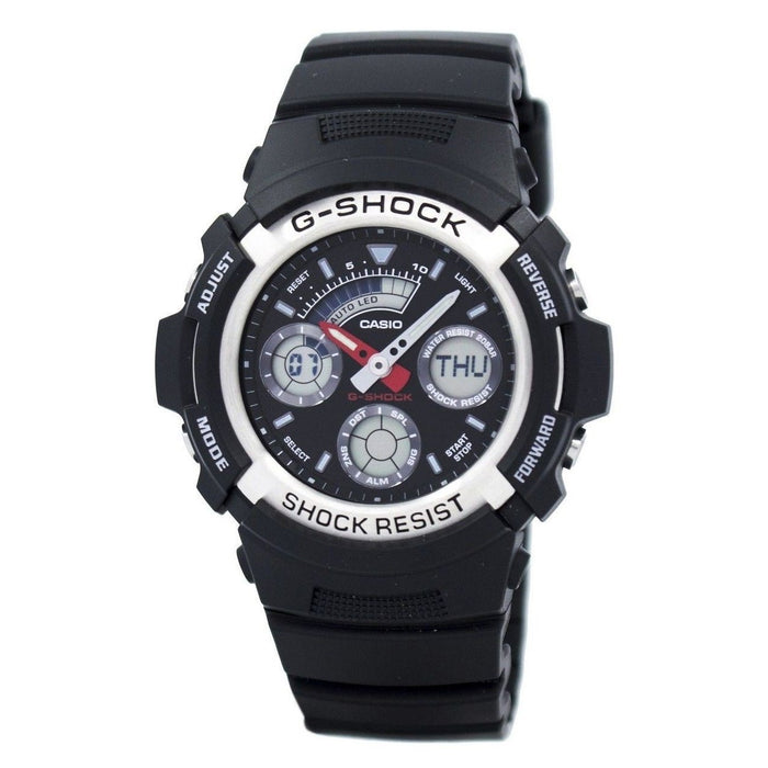 Casio Men's AW590-1A G-Shock Black Resin Watch