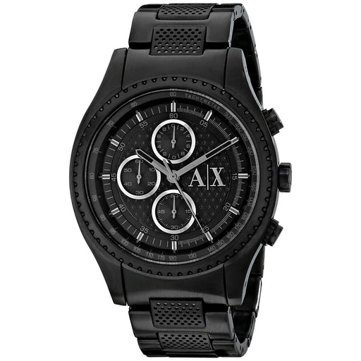 Armani Exchange Men's AX1605 Active Chronograph Black Stainless Steel Watch