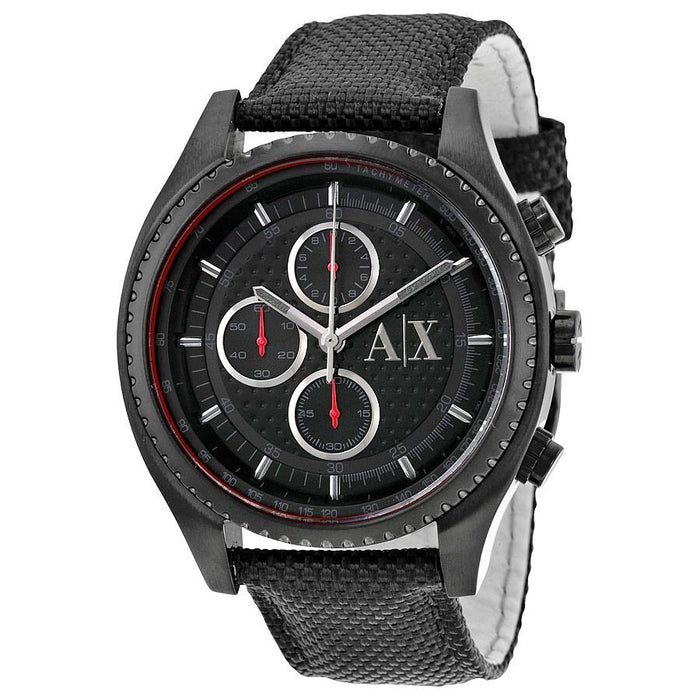 Armani Exchange Men's AX1610 Chronograph Black Leather Watch