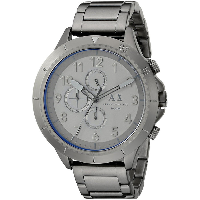 Armani Exchange Men's AX1753 Romulous Chronograph Grey Stainless Steel Watch