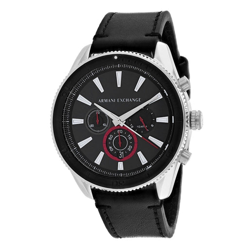 Armani Exchange Men's AX1817 Classic Chronograph Black Leather Watch