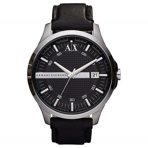 Armani Exchange Men's AX2101 Classic Black Leather Watch