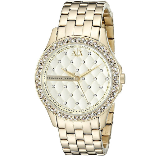 Armani Exchange Women's AX5216 Smart Crystal Gold-Tone Stainless Steel Watch