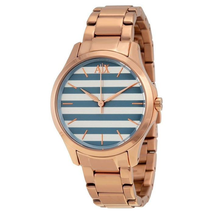 Armani Exchange Women's AX5234 Rose-Tone Stainless Steel Watch