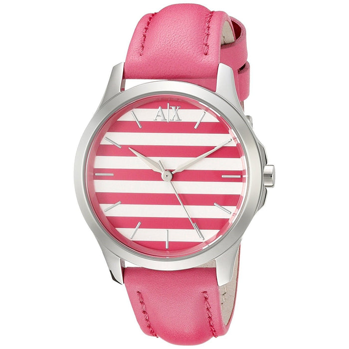 Armani Exchange Women's AX5235 Smart Pink Leather Watch