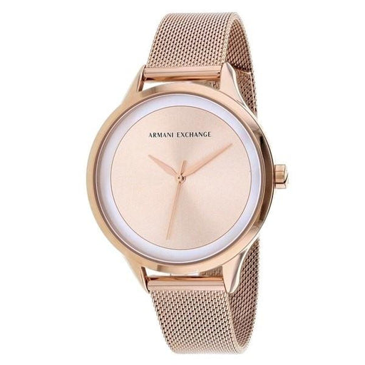 Armani Exchange Women's AX5602 Classic Rose-Tone Stainless Steel Watch