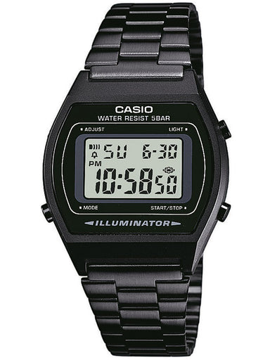 Casio Men's B640WB-1AEF Retro Digital Black Stainless Steel Watch