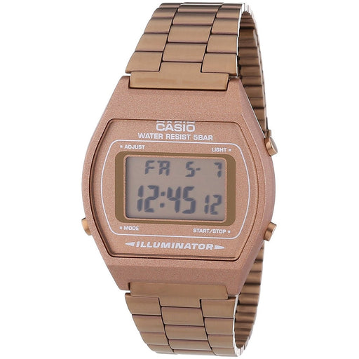 Casio Men's B640WC-5AEF Retro Digital Bronze Stainless Steel Watch