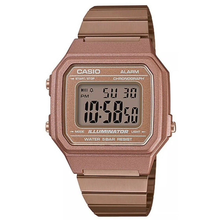 Casio Unisex B650WC-5A Vintage Rose Gold-Tone Resin Watch