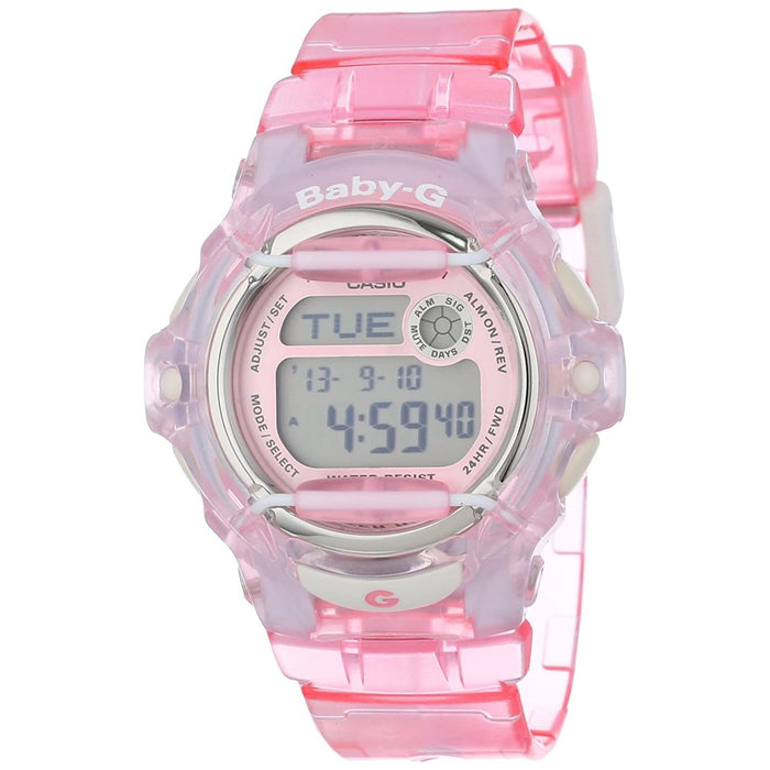 Casio Women's BG169R-4 Baby-G Digital Pink Resin Watch