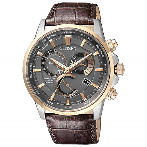 Citizen Men's BL8148-11H Eco-Drive Brown Leather Watch