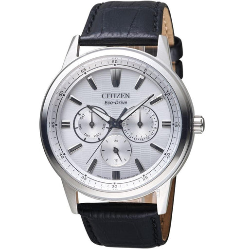 Citizen Men's BU2071-01A Eco-Drive Black Leather Watch