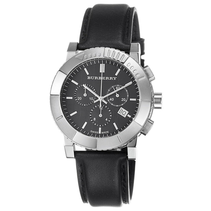 Burberry Men's BU2306 Trench Chronograph Black Leather Watch