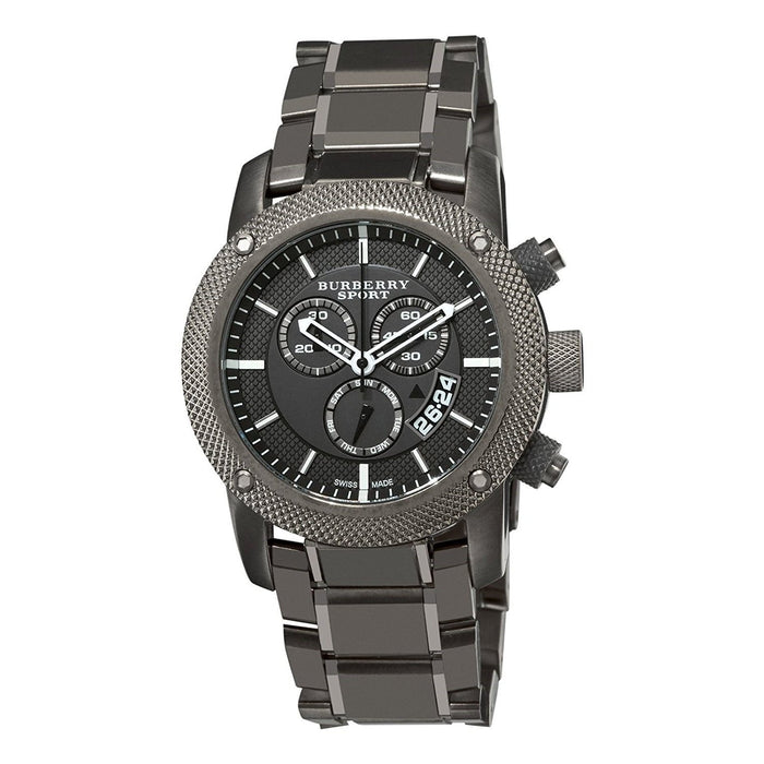 Burberry Men's BU7716 Sport Chronograph Black Stainless Steel Watch